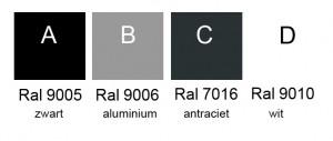 Ral kleuren onderstel